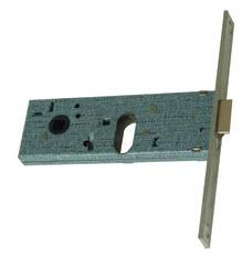 Fechadura de perfil estreito para portas e portadas de alumínio