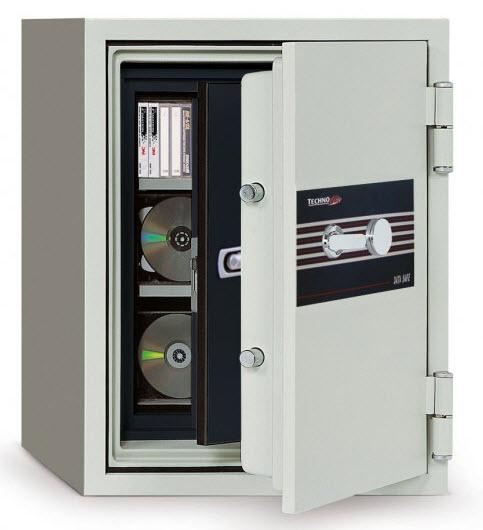 Cofre de alta segurança para protecção de discos magnéticos